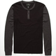 SHOUTHOUSE Color Block Mens Henley Thermal