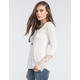 OTHERS FOLLOW Lace Sleeve Womens Top