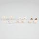 FULL TILT 6 Pairs Bow/Key/Flower Earrings