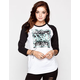 YOUNG & RECKLESS New Square Womens Baseball Tee
