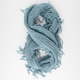 Square Knit Fringe Infinity Scarf