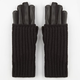 2 in 1 Faux Leather Gloves