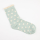 FULL TILT Heart Ruffle Womens Crew Socks