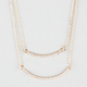 FULL TILT 2 Row Rhinestone Bar Necklace