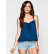 BLU PEPPER Lace Up Womens Cami