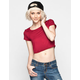 FULL TILT Womens Crop Tee