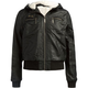 FULL TILT Sherpa Hood Girls Faux Leather Jacket