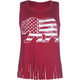 FULL TILT Americana Bear Girls Fringe Tank