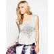 FULL TILT Boho Diamond Womens Swing Top
