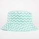 Chevron Stripe Reversible Womens Bucket Hat