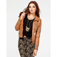 FULL TILT Hooded Womens Washed Faux Leather Jacket