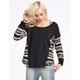 FULL TILT Sweater Inset Womens Sweatshirt