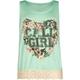 FULL TILT Calif Girl Crochet Bottom Girls Tank