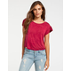 FULL TILT Mineral Wash Womens Crop Tee