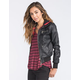 FULL TILT Buffalo Hooded Womens Faux Leather Jacket