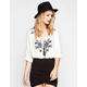 FULL TILT Womens Embroidered Peasant Top