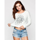 FULL TILT Raw Edge Womens Crop Sweatshirt