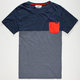 RUSTY Evander Mens Pocket Tee