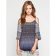 PATRONS OF PEACE Womens Cold Shoulder Top