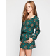 PATRONS OF PEACE Tile Womens Romper