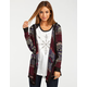 FULL TILT Marled Boho Womens Hooded Wrap Sweater