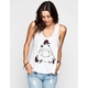 LIFE CLOTHING CO. Rose Eye Womens Deep Arm Hole Tank