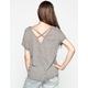 CHLOE K Cross Back Womens Drop Shoulder Top