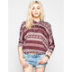 FULL TILT Ethnic Print Womens Dolman Crop Sweatshirt