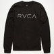 RVCA Embroidered Mens Sweatshirt