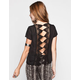 FULL TILT Crochet Back Womens Top