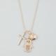 FULL TILT Cross/Hamsa/Eye Charm Necklace