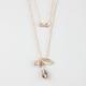 FULL TILT 2 Row Dainty Infinity/Leaf Necklace