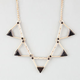 FULL TILT Cutout Triangle Statement Necklace