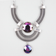 FULL TILT 3 Row Iridescent Stone Statement Necklace