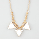 FULL TILT Triple Triangle Necklace