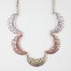FULL TILT Mixed Metal Ethnic Crescent Necklace