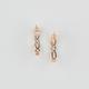 FULL TILT Geometric Cutout Hoop Earrings