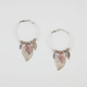 FULL TILT Leaf Dangle Hoop Earrings