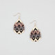 FULL TILT Mixed Metal Etched Teardrop Earrings