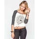 FULL TILT Medallion Womens Baseball Tee