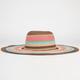 Multi Stripe Womens Floppy hat.