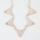 FULL TILT Rhinestone Triangle Statement Necklace