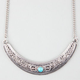 FULL TILT Boho Etched Crescent Necklace