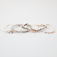 FULL TILT 4 Piece Geometric/Chain/Rope/Bead Bracelets