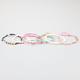 FULL TILT 6 Piece Pearl/Heart/Flower Bracelets