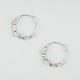 FULL TILT Rhinestone Clutchless Hoop Earrings