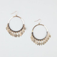 FULL TILT Diamond Discs Hoop Earrings