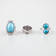 FULL TILT 3 Piece Turquoise Stone Rings
