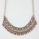 FULL TILT Etched Chain Rhinestone Statement Necklace