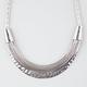 FULL TILT Mesh/Hammered Plate Statement Necklace